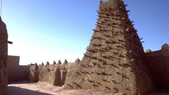 Moschee in Timbuktu; Foto: dpa
