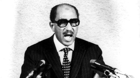 Ägyptens Präsident Anwar al-Sadat; Foto: AP