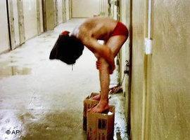 Folteropfer in Abu Ghraib; Foto: AP
