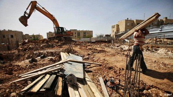 Baustelle einer israelischen Siedlung in Ostjerusalem; Foto: dapd