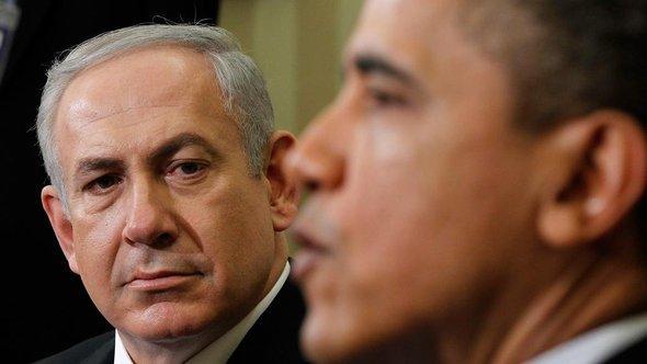 US-Präsident Barack Obama und der israelische Premierminister Benjamin Netanjahu; Foto: Pablo Martinez Monsivais/AP/dapd