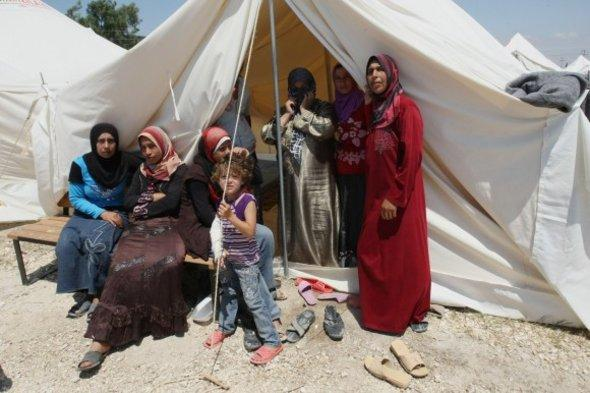 Syrisches Flüchtlingslager in der Provinz Hatay; Foto: dapd