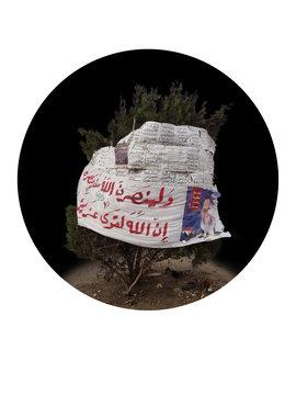 Mohamed Abouelnagas Installation Four Trees in Tahrir Square, Foto: Qalandiya International