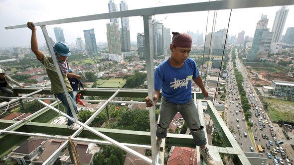 Baustelle in Jakarta; Foto: EPA