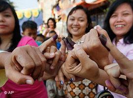 Wahlen in Indonesien im Jahr 2009; Foto: AP