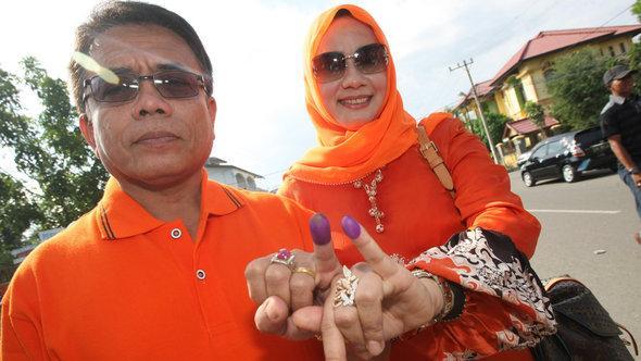 Wahlen in Indonesien 2012; Foto: dpa