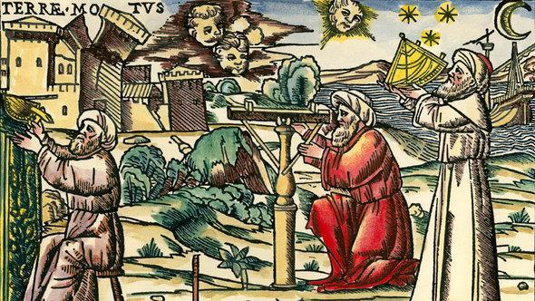 Holzschnitt 'Arabische Astrologen mit Messgeräten' aus Venedig, 1513; Foto: picture-alliance/akg