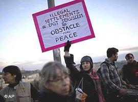 Proteste gegen den Siedlungsbau in Ost-Jerusalem; Foto: AP