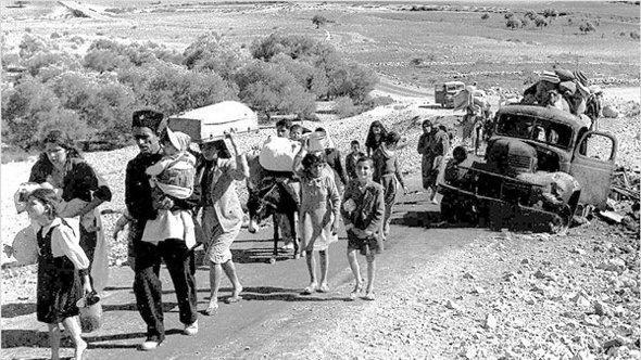 Palästinensische Flüchtling bei Galiläa 1948; Foto: DW