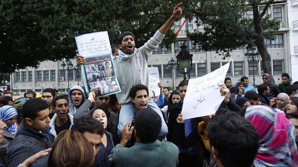 Demonstration gegen die Regierung in Siliana; Foto: Reuters