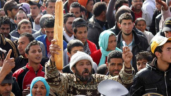 Unruhen in Sidi Bouzid; Foto: Reuters