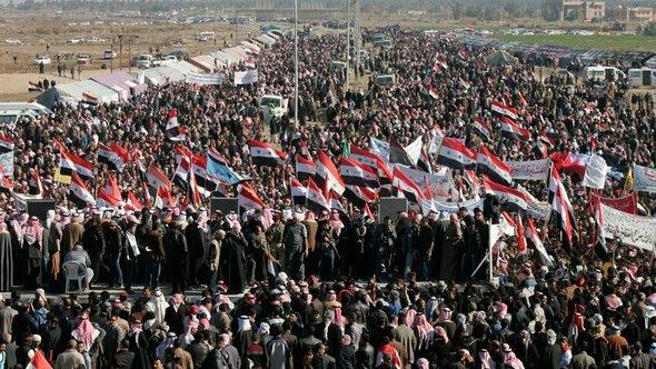Proteste von Sunniten in Ramadi; Foto: Reuters