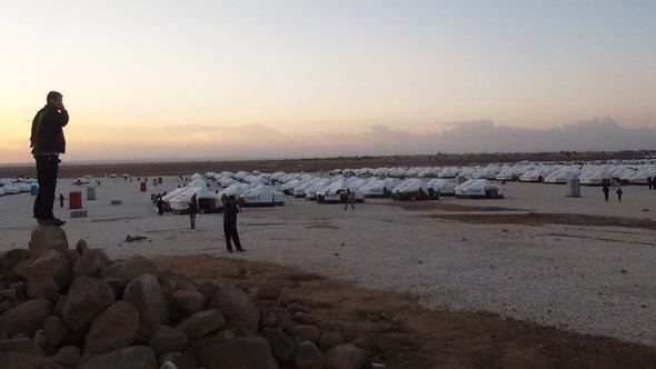 Flüchtlingslager Zaatari, Syrisch-Jordanische Grenze; Foto: Karen Leigh/DW
