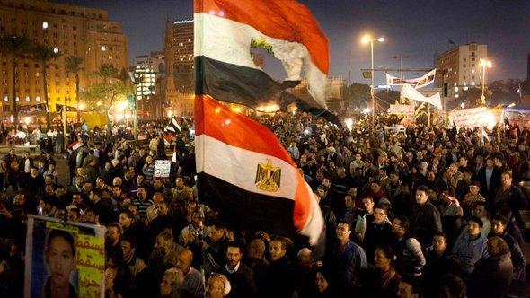 Gegner Mursis demonstrieren in Kairo, Foto: AP