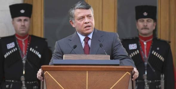 Der jordanische König Abdullah II.; Foto: AP/Nader Daoud