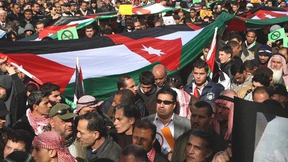 Proteste von Mitgliedern der Islamischen Aktionsfront in Amman, Januar 2013; Foto: Reuters/Majed Jaber
