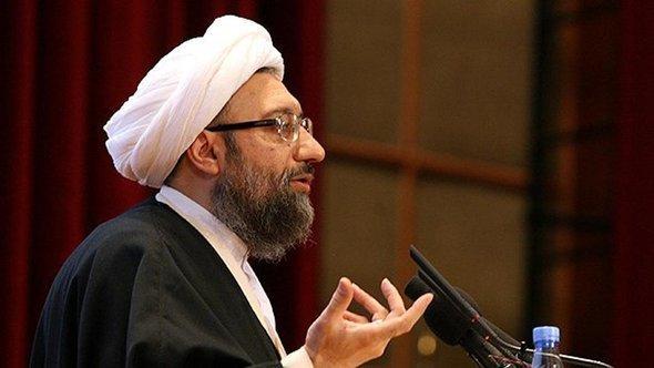 Ayatollah Sadegh Amoli Laridjani, Justizchef der Islamischen Republik Iran; Foto. © FARS