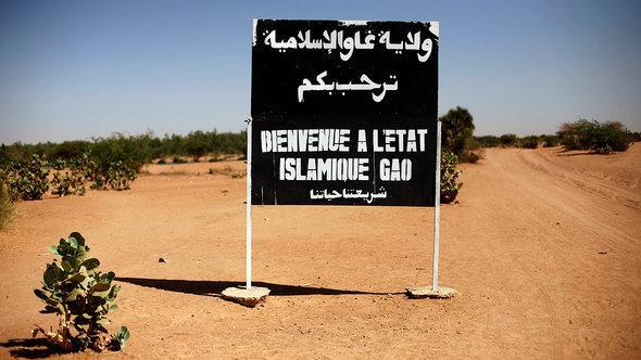 Ortsschild Willkommen im islamischen Gao; Foto: dapd
