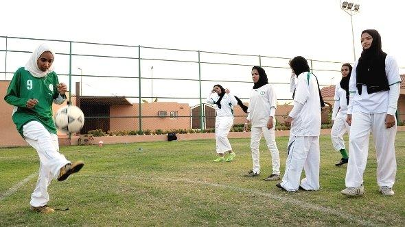 Frauenfußball in Saudi-Arabien; Foto: Omar Salem/AFP/Getty Images