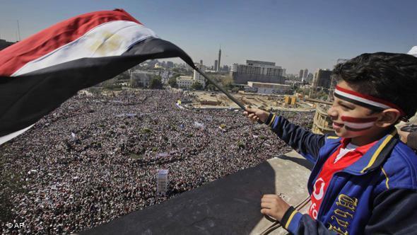 Blick auf den Tahrir-Platz im Februar 2011; Foto: AP/Ben Curtis