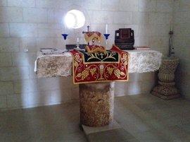 Altar der Kirche in Kafro; Foto: Ekrem Eddy Güzeldere