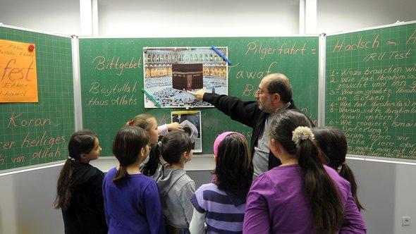 Islamischer Religionsunterricht an Grundschule Ludwigshafen-Pfingstweide; Foto: dpa