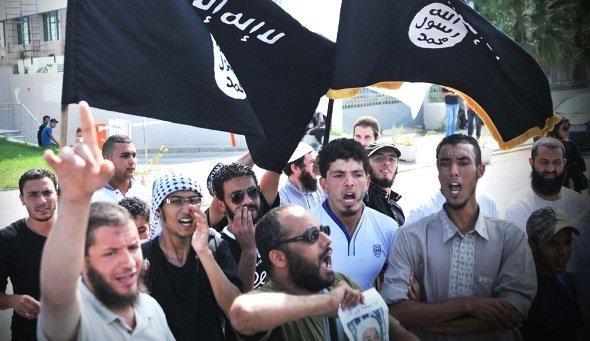 Salafists protesting in Tunis, Tunisia (photo: © Ali Garboussi/Wostok Press/Maxppp)