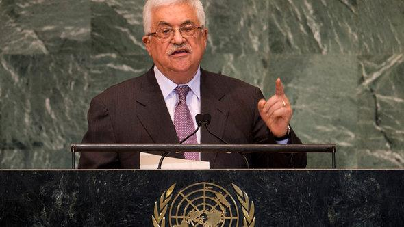 Palestinian president Mahmoud Abbas at the UN Assembly (photo: Getty Images/AFP)