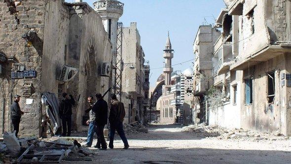 Zerstörungen in der zentralsyrischen Stadt Homs; Foto: