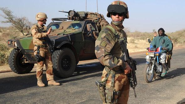 Französische Soldaten i Rahmen der Mali-Intervention in Gao; Foto: Getty Images