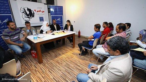 Politisches Seminar in der Tahrir Lounge in Kairo; Foto: M. Elhammoudy