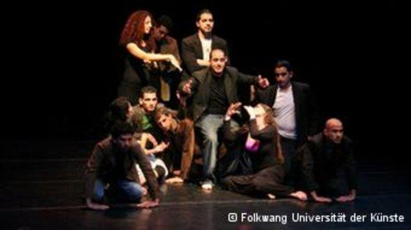 Young actors in rehearsal (photo: Folkwang Universität der Künste)