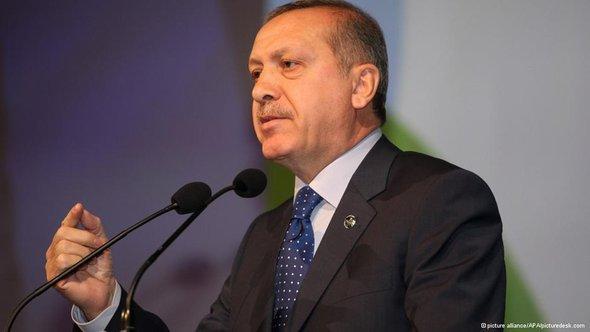 Der türkische Ministerpräsident Erdogan; Foto: AP/picture-alliance