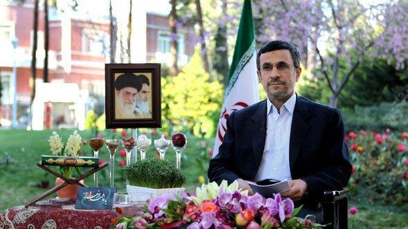 Irans Präsident Ahmadinedschad; Foto: dpa