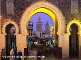 Ausblick von Boujeloud in die Medina von Fez (Foto: picture-alliance)