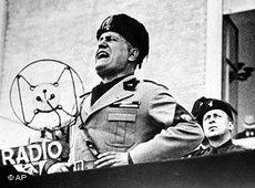 Benito Mussolini, Italian dictator, speaking on 24 September 1934 (AP Photo)