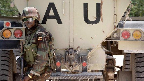 Einheiten der AMISOM im Yaaqshiid-Distrikt im Norden Mogadischus; Foto: dpa/picture-alliance