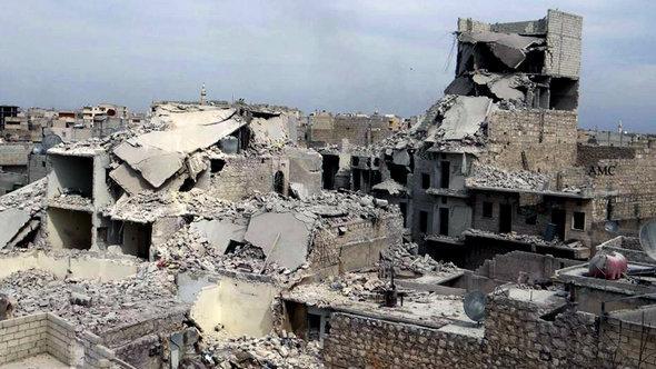 Zerstörungen im nordsyrischen Aleppo; Foto: picture-alliance/AP