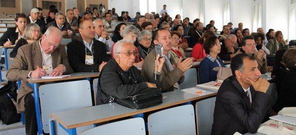 Treffen tunesischer Hochschullehrer und Wissenschaftler während des Weltsozialforums in Tunis; Foto: Martina Sabra