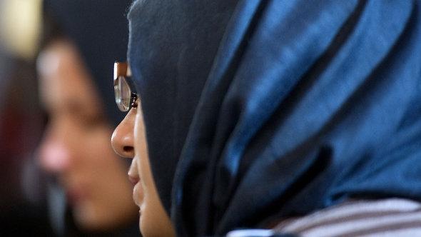 Muslima in einer türkischen Moschee in Berlin; Foto: dpa/picture-alliance
