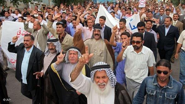 Proteste von Sunniten im Irak; Foto: AP