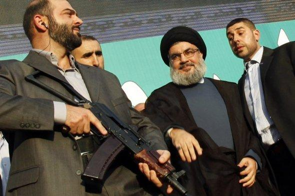 Hizbullah-Chef Hassan Nasrallah in Beirut; Foto: Reuters
