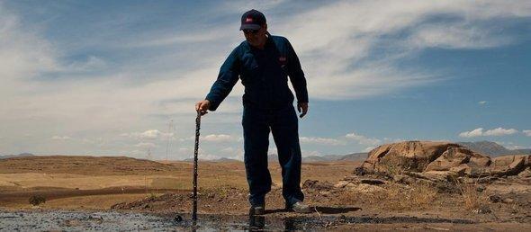 Erdölfelder bei Kirkuk; Foto: dpa