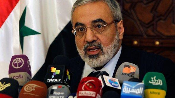 Der syrische Informationsminister Omran Soabi; Foto: Reuters