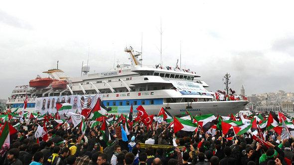 Die Mavi Marmara in Istanbul; Foto: dpa