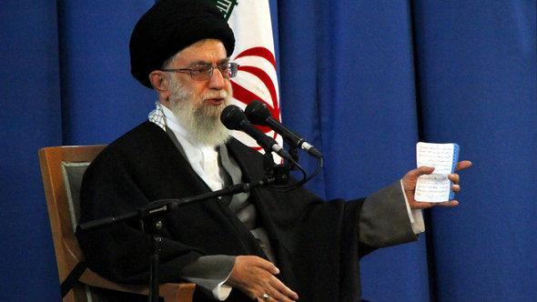 Irans Revolutionsführer Ali Khamenei; Foto: dpa
