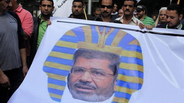 Protetste gegen Mursi in Kairo; Foto: picture alliance/dpa