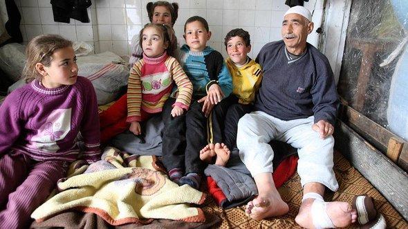 Syrische Flüchtlinge in Saadnayel in der Bekaa-Ebene; Foto: Reuters