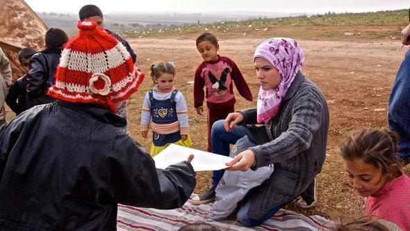 Syrian refugees in Atme, northern Syria (photo: DW/A. Stahl)