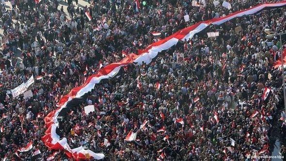 DieProteste auf dem Tahrir-Platz 2011, Foto: ©picture-alliance/dpa